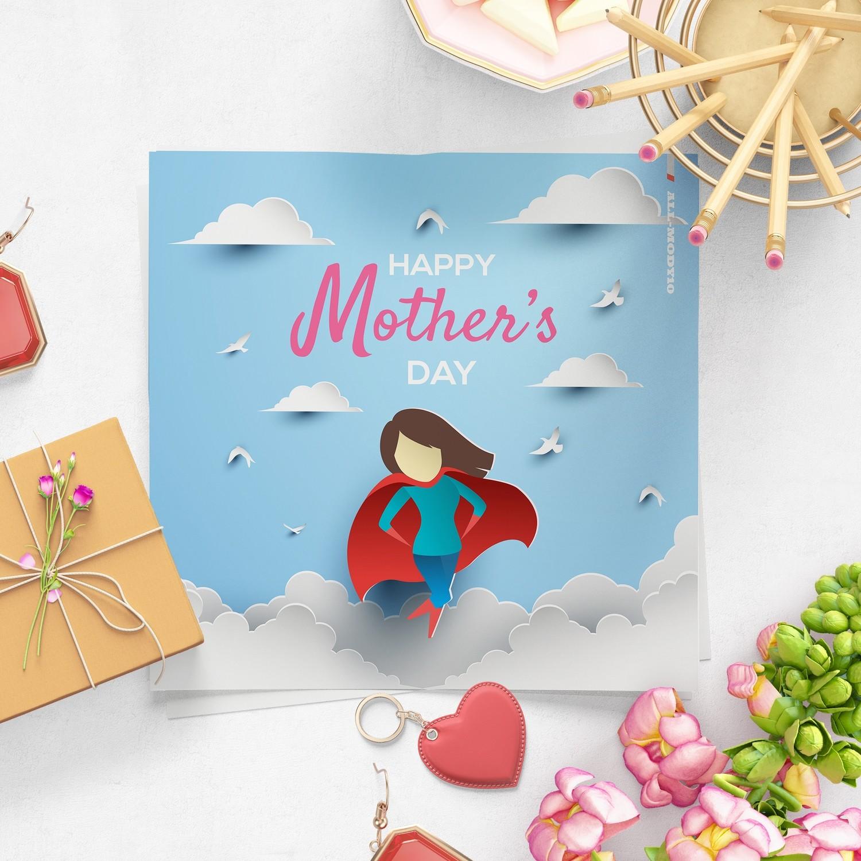 [設計圖樣][母親超人紙雕插畫] 素材 全品項 適用