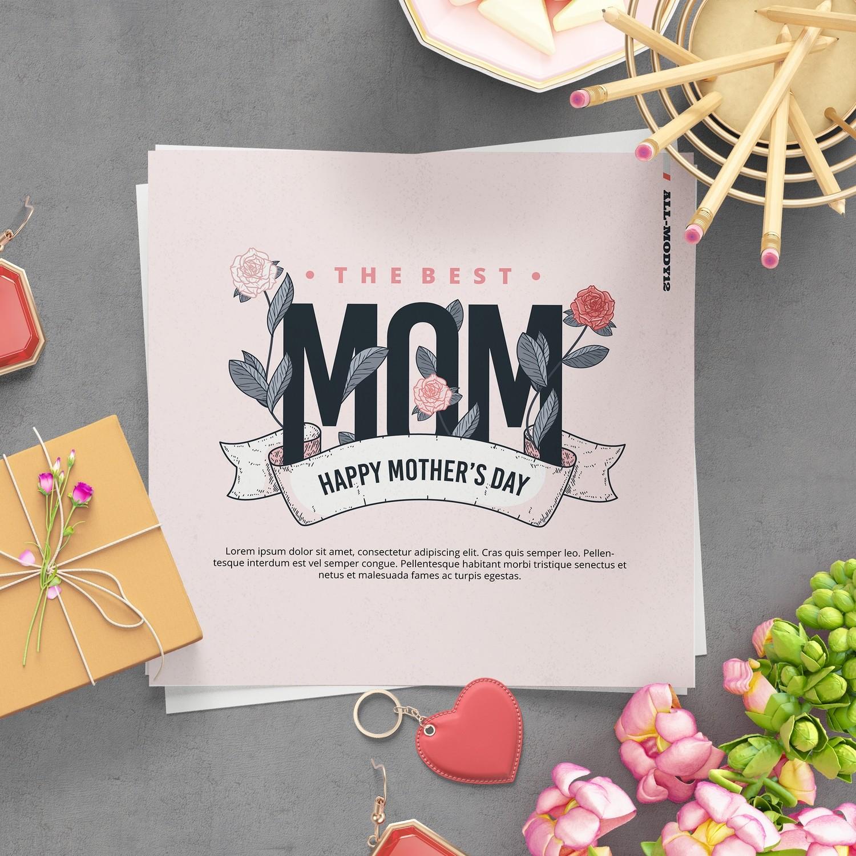 [設計圖樣][母親節MOM花草字體] 素材 全品項 適用