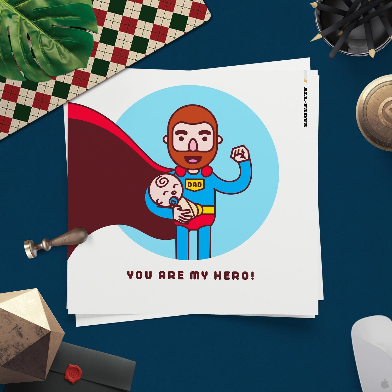 [設計圖樣][超人爸爸與嬰兒可愛插畫] 素材 全品項 適用