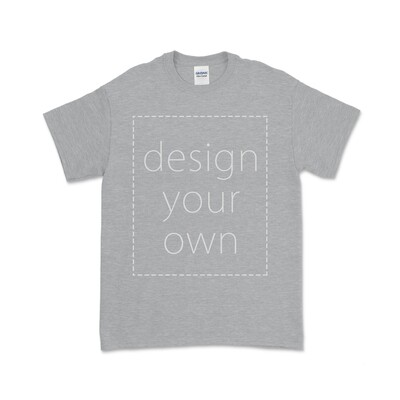 客製 局部 印花 運動灰 中性 T恤 Sport Grey Cotton T-shirt