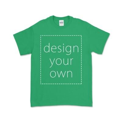 客製 局部 印花 愛爾蘭綠 純棉 中性 T恤 Irish Green Cotton T-shirt