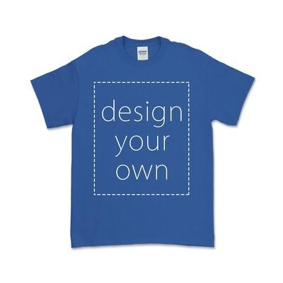 客製 局部 印花 寶藍 純棉 中性 T恤 Royal Cotton T-shirt