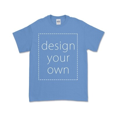 客製 局部 印花 卡羅萊納藍 純棉 中性 T恤 Carolina Blue Cotton T-shirt