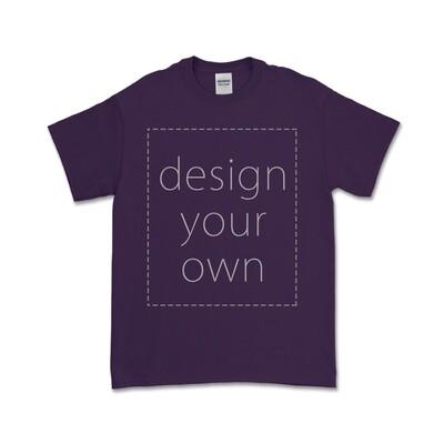 客製 局部 印花 紫色 純棉 中性 T恤 Purple Cotton T-shirt