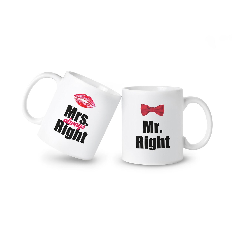 情人節 正確先生 與 永遠正確小姐 對杯 Mr. Right & Mrs. Always Right Mugs