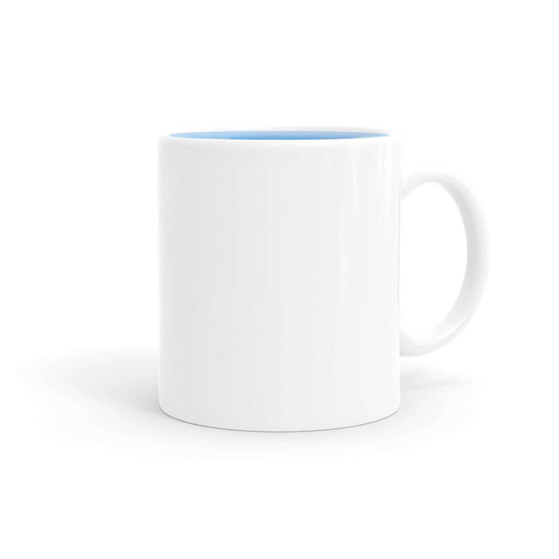 客製 局部 印花 白瓷 內彩 馬克杯 Classic mug color inside