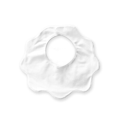 客製 滿版 印花 兒童 嬰兒 花朵 圍兜 口水巾 Baby Flower Bib