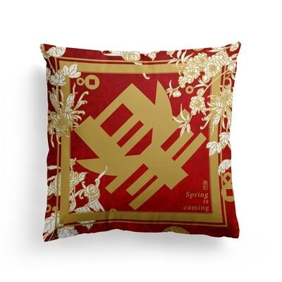 [設計圖樣] 春到 春聯 新年 過年 抱枕 Spring Lunar New Year Pillow