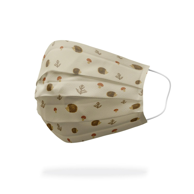 現貨 滿版 印花 刺蝟 蘑菇 醫療 口罩 (30入) Hedgehog and Mushroom mask