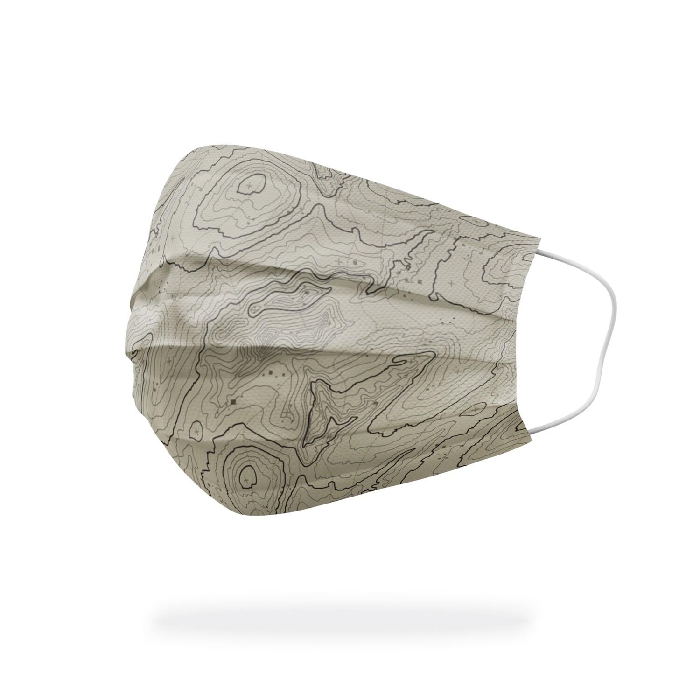 現貨 滿版 印花 等高線 地圖 醫療 口罩 (30入) Contour map mask