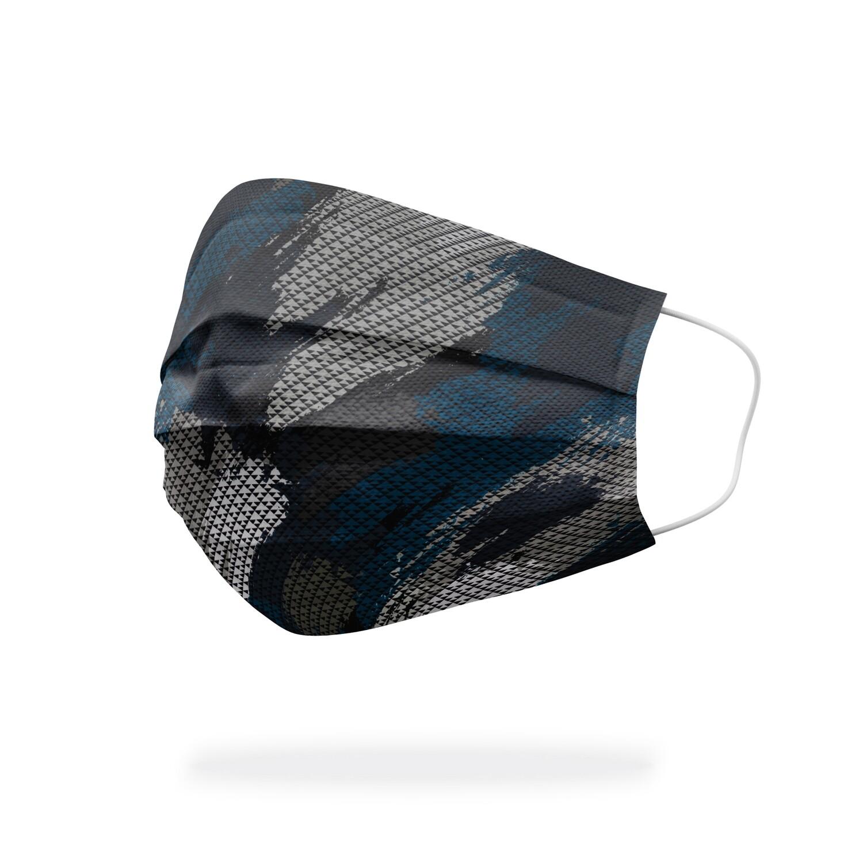 現貨 滿版 印花 迷彩 刷痕 醫療 口罩 (30入) Camouflage brush mask