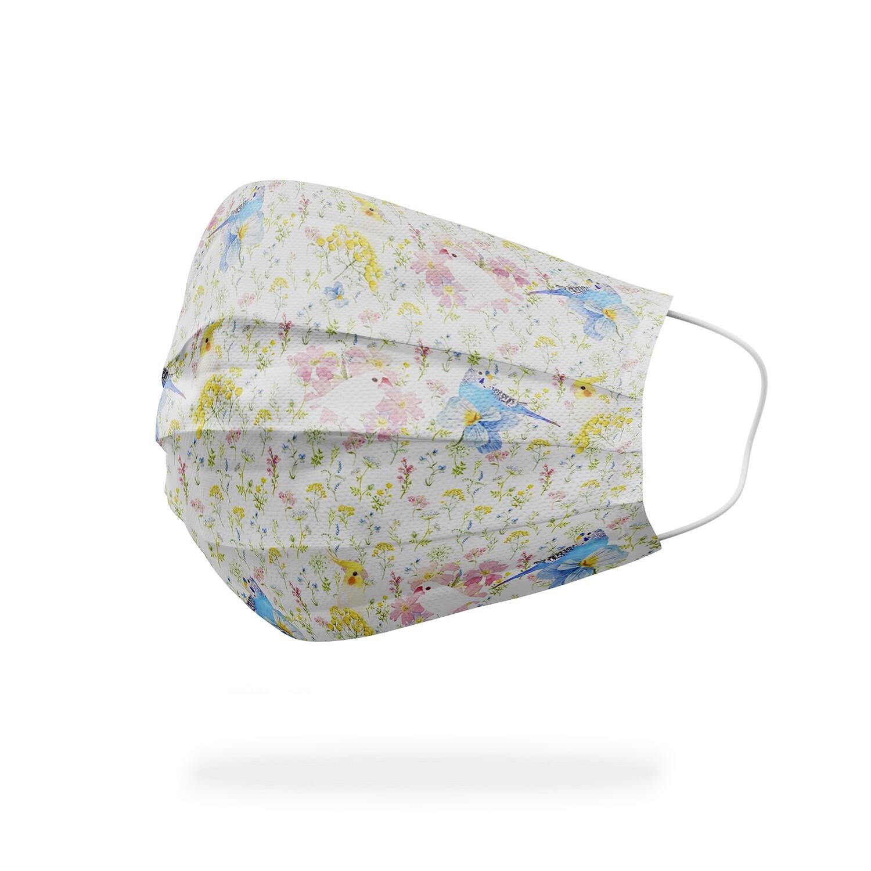 現貨 滿版 印花 夏日 小花鳥 醫療 口罩 (10入) Summer flowers & birds mask