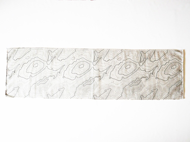 現貨 滿版 印花 等高地線 地圖 吸水毛巾 Contour map towel