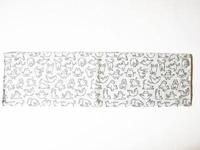 現貨 滿版 印花 瑜珈  貓  吸水毛巾 Yogo cate towel
