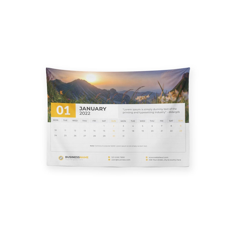 [設計圖樣] 商業 公司 形象 2022 月曆 掛幔 Business Company Calendar Tapestry
