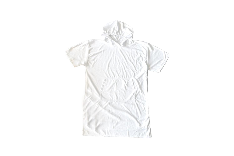 客製 滿版 印花 連帽五分袖毛巾衣 (沙灘衝浪衣)