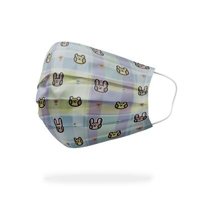 現貨 渣熊 媽寶兔 格紋 醫療 口罩 (10入) Playbear & mama's rabbit plaid mask