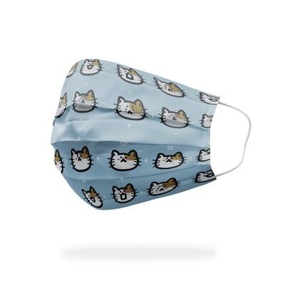 現貨 廢物貓貓 表情 醫療 口罩 (10入) Loser cat face mask