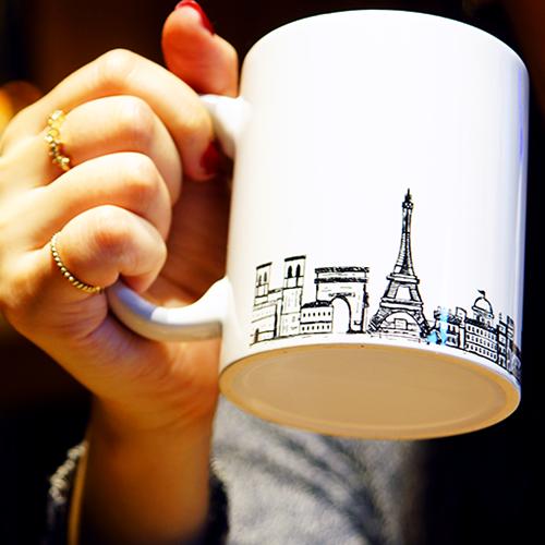 skyline city sketch 白瓷馬克杯