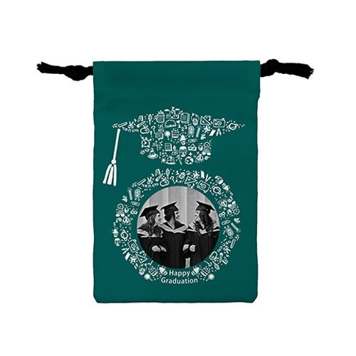 [畢業快樂-祝福賀圖]輕便版小束口袋 Happy graduation(Pic) Light drawstring bag