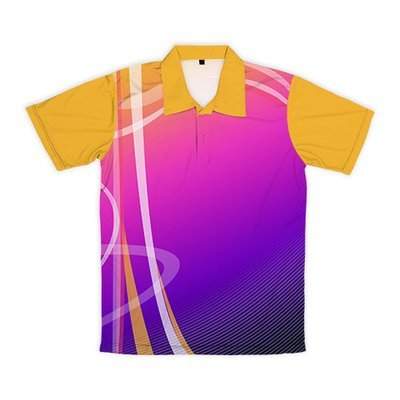 [設計圖樣] 不規則曲線 (紫-粉-黃漸層+黃拼接)