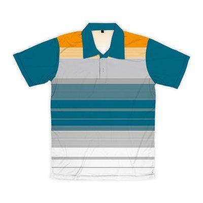 [設計圖樣] 密集橫紋 (橘淺靛拼接)