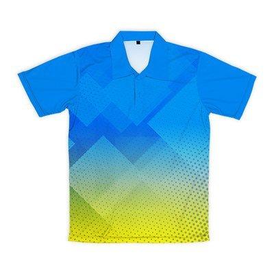 [設計圖樣] 菱形波點 (藍綠漸層)