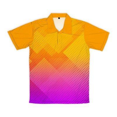 [設計圖樣] 菱形波點 (橘紫漸層)