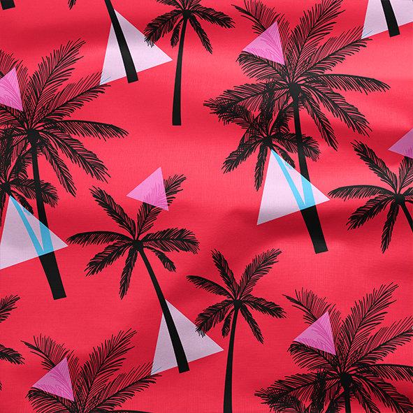 [設計圖樣] 洋紅 熱帶 布花 Elegant tropical