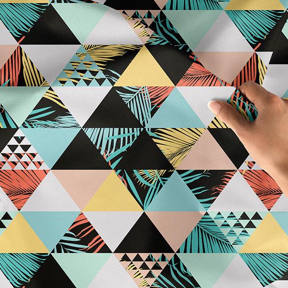 [設計圖樣] 三角紋 熱帶 布花 Exotic beach