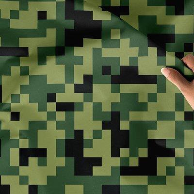 [設計圖樣] 軍綠 迷彩 馬賽克 Green mosaic camouflage