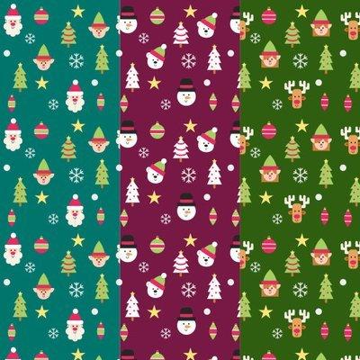 [設計圖樣] 聖誕 兒童 元素 布花 Christmas elements