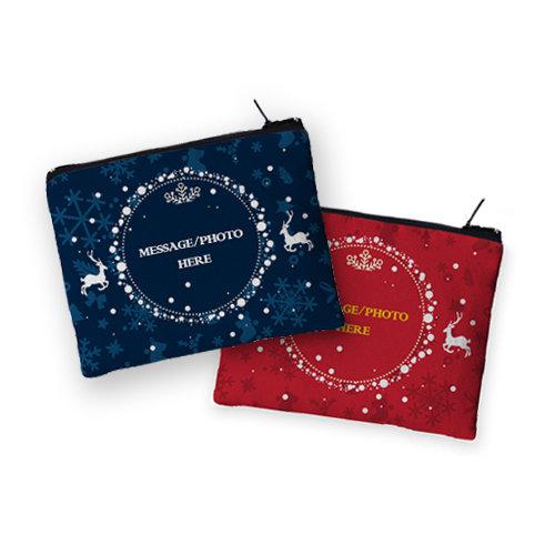 [設計圖樣] 聖誕 麋鹿 圓框 零錢包 Elk round frame coin purse