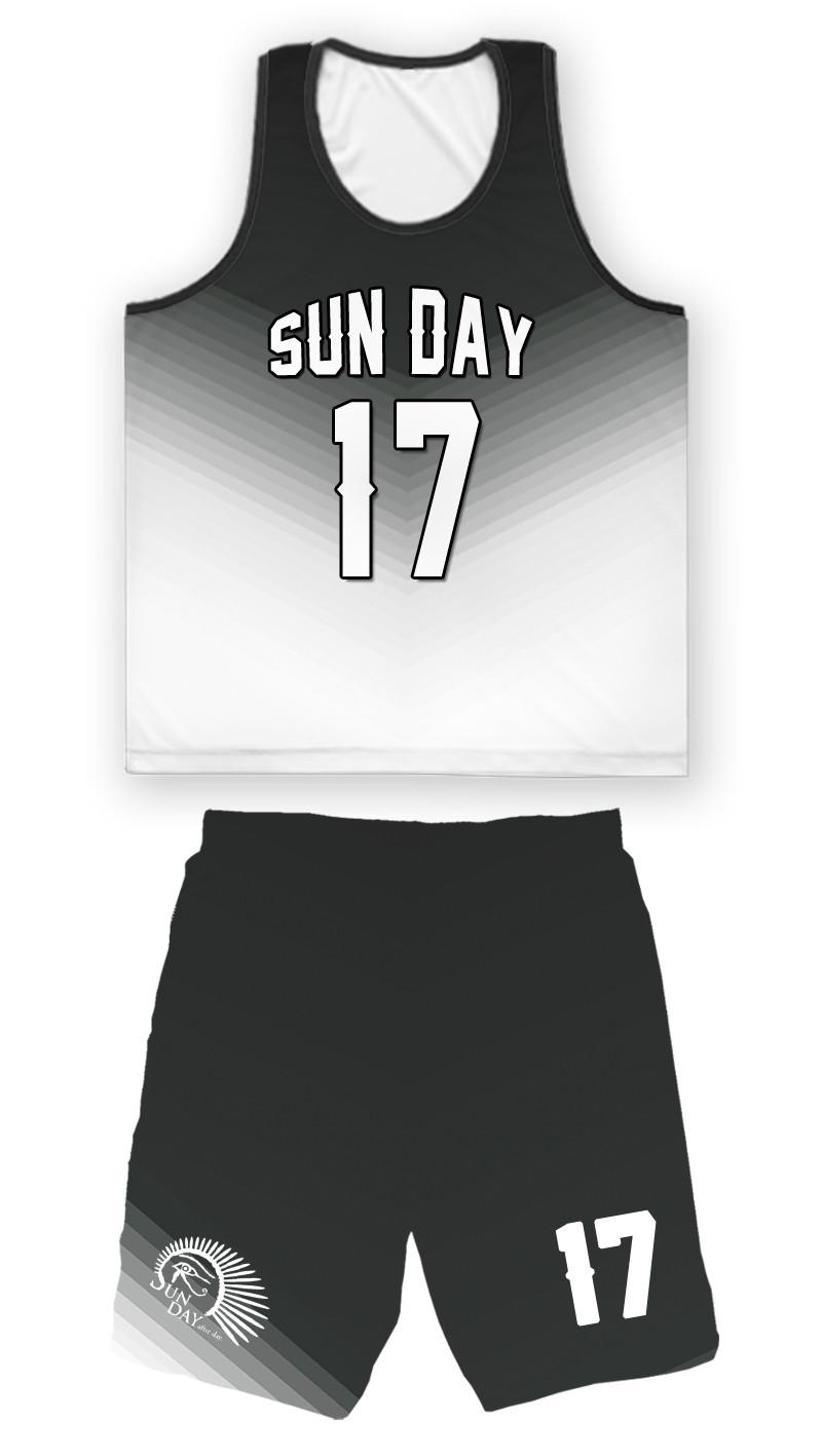〔Sun Day〕V字漸層設計整套球衣