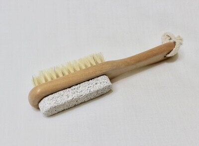 Pumice Stone with Handle and Brush
