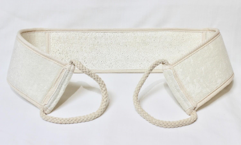 Terry Cloth and Loofa Belt