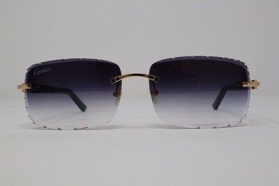 Cartier Gold Black Acetate