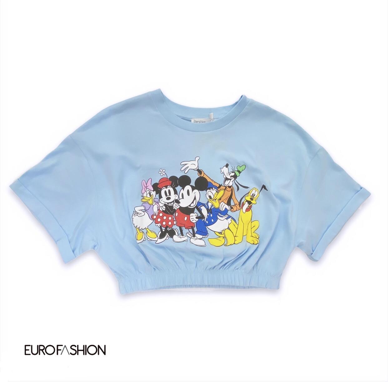 Top Crop Elastic de Mickey Mouse