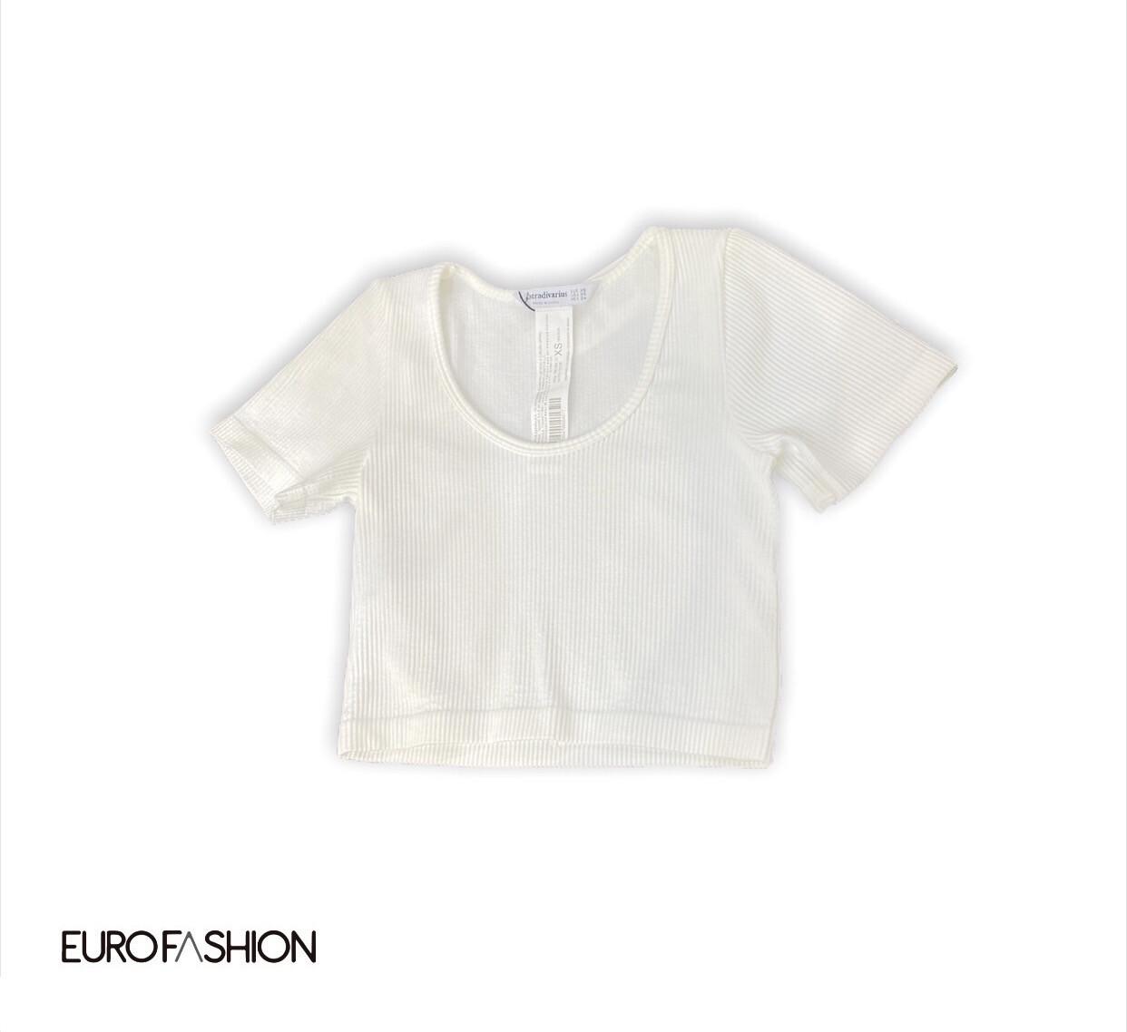 Top White Cuello redondo