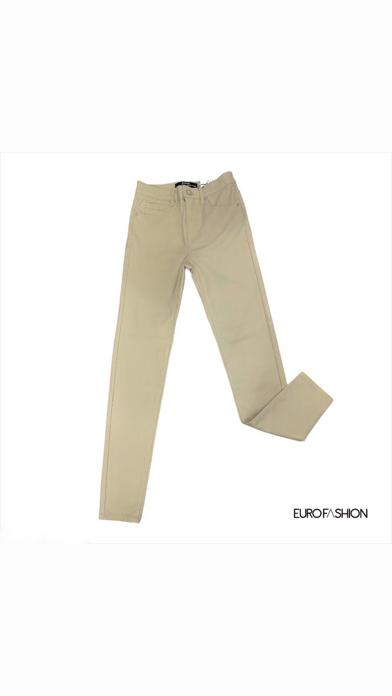 Skinny impermeable high waist