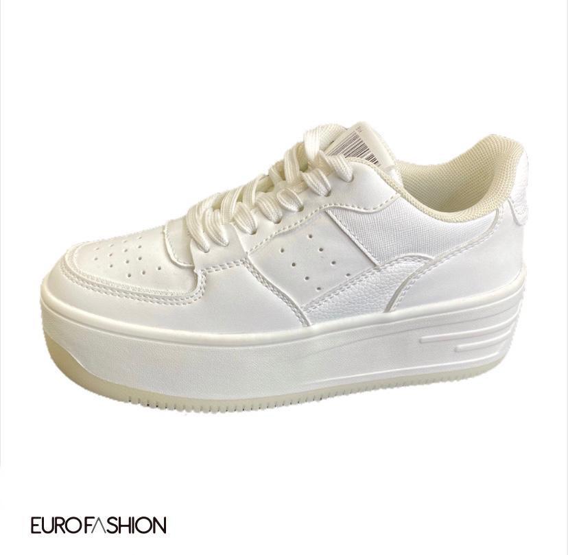 Sneakers plataforma alta bicolor