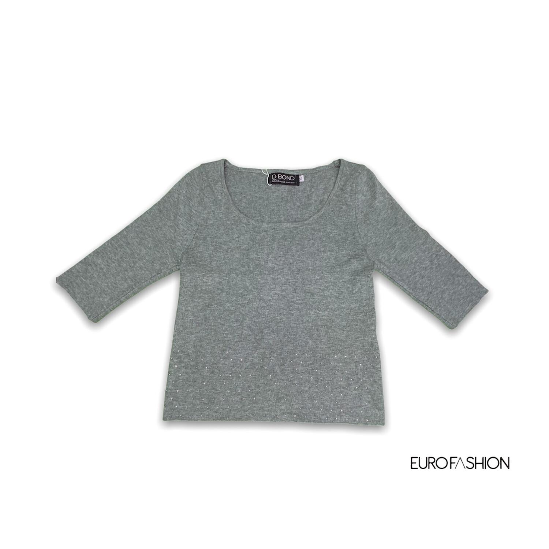 Blusa manga 3/4 gris