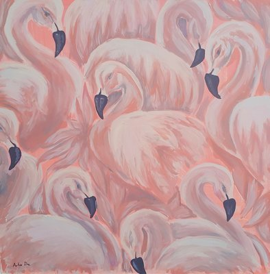 Artor Die - Flamingi | 100 x 100