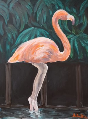 Artor Die - Ballet Flamingo | 50 x 70