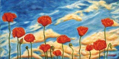 Marina Lisovaya - Poppies | 100 x 50