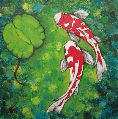 FFeya - Couple In Green Water | 35 x 35