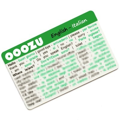 OOOZU Italian Language Card
