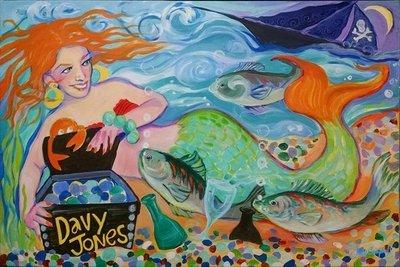 "Beach Glass mermaid ~ limited edition giclée print 8""x10"""