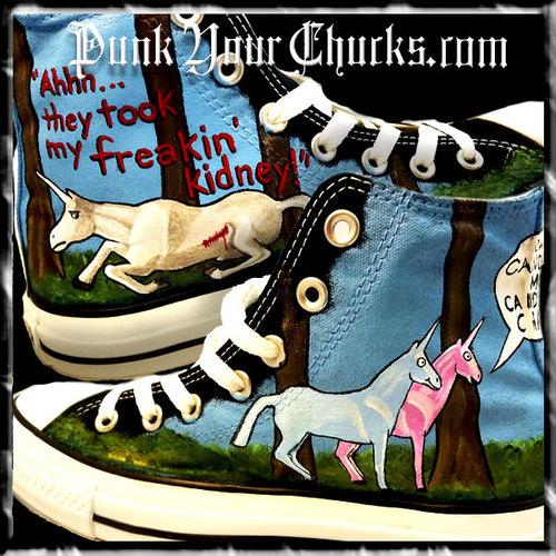 Charlie the Unicorn Custom Converse Sneakers
