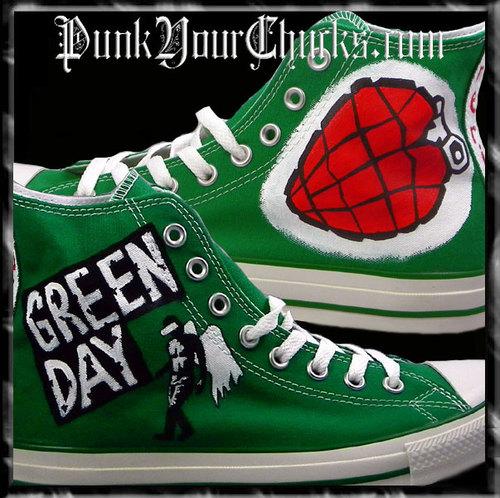 Green Day American Idiot Custom Converse Sneakers